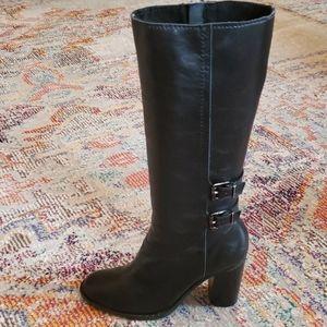 Adrienne Vittadini Tall Sleek Black Boots